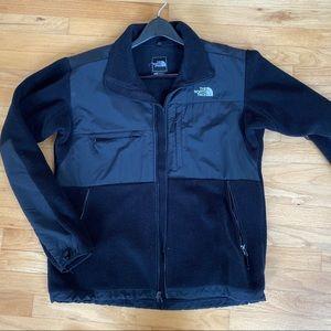Black MENS north face fleece jacket size L